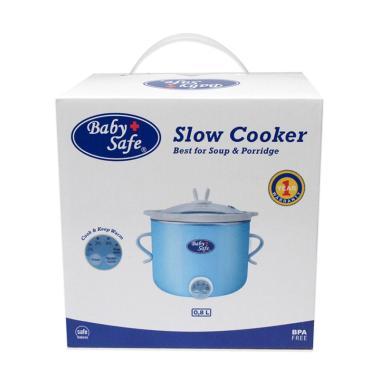 harga Baby Safe LB007 Digital Timer Slow Cooker Alat Memasak Bubur Bayi - Biru [0.8 L] Blibli.com