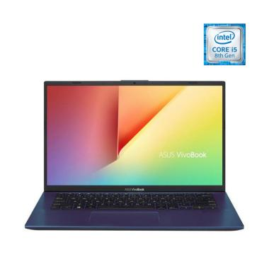 harga OS - Asus A412FL-EK503T Notebook - Blue [i5-8265U/8GB/512GB SSD/Nvidia GeForce MX250 2GB/14