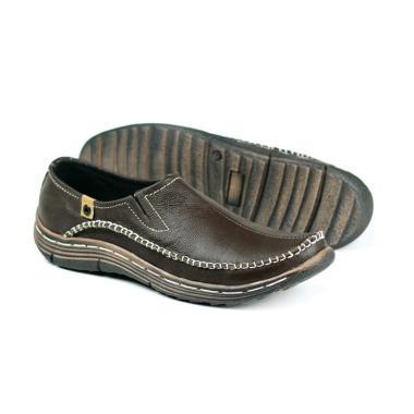 harga FORDZA Kulit Asli Hand Made Moccasin Rubber Microcell Sepatu Casual Pria Blibli.com