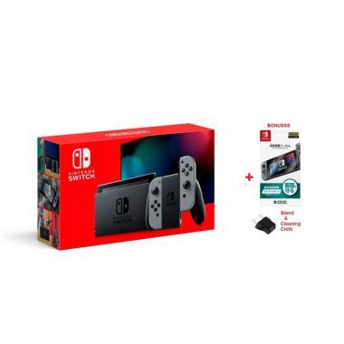 Nintendo Switch Console New Model HAC-001(-01) New Version CPU + Batt Konsol Nintendo - Gray [AUS]