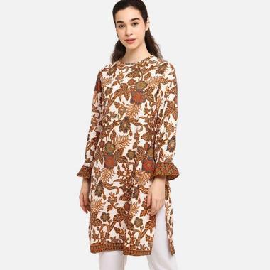 Anakara Frilly Long Bonanza Tunic Atasan Batik Wanita