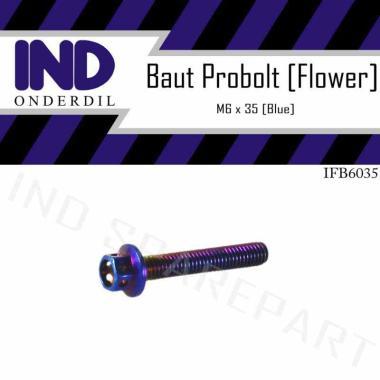 harga IND Onderdil Baut Probolt Flower M6x35 Kunci 8 - Blue Blibli.com