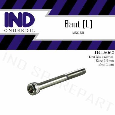 harga IND Onderdil L5 M6x60-6X60 M6x60 Kunci K-5 P-Pitch 1 Baut Bolt L Blibli.com
