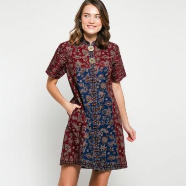Andelly Batik 02 10 Dress Panjang Wanita