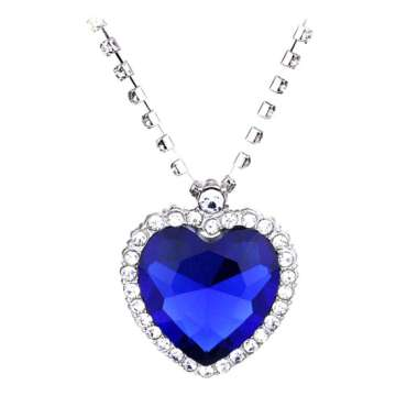 harga Crystal Pendant Necklace Titanic Heart Of The Ocean Necklace Valentines Gift Blibli.com