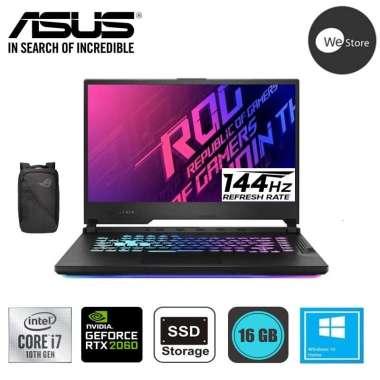 harga ASUS ROG STRIX-G G512LV-I7R6B6T Gaming Laptop [i7-10750H/16GB DDR4 /512GB M.2 PCIe/Nvidia RTX 2060 6GB/15.6
