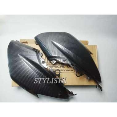 harga Cover Body Depan Carbon Yamaha Nmax Nemo Aksesoris motor Nmax A166 Black