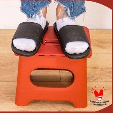 harga Mendekor Fraju bangku kursi lipat lipet plastik tangga awet kuat stool premium Red Blibli.com