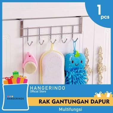 harga Rak Gantung Perabotan Rumah Dapur 5 Hook Silver Blibli.com