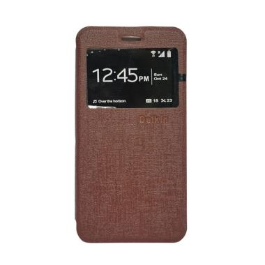 Flip Shell Flip Cover Casing for Vivo Y55 - Coklat