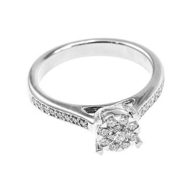 LINO P1702130009 VVS Cincin Berlian Emas Putih [18K]