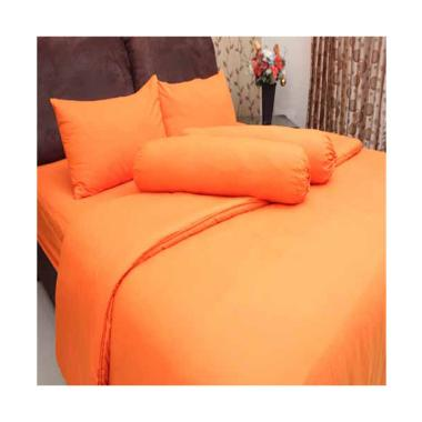 Chelsea Microtex Set Sprei - Polos Orange