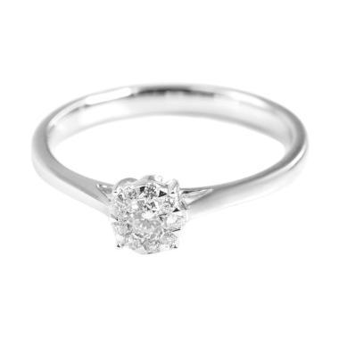 LINO S1703010080 VVS Cincin Berlian Emas Putih [18K]
