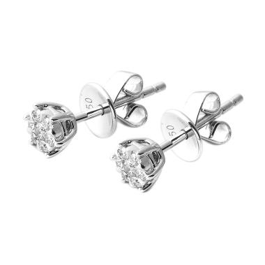 LINO P1701030030 Anting Berlian Emas Putih [18K/VVS]