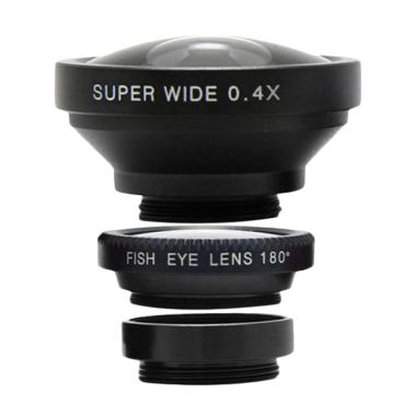 harga Clip Lens 3 in 1 Super Wide Lensa Kamera Blibli.com