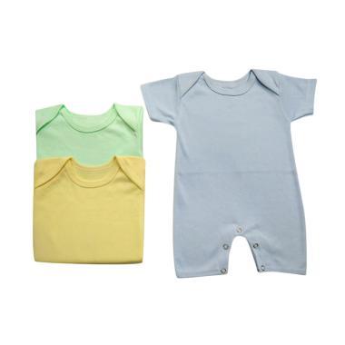 JBS Kaizora Baby Romper Baju Jumpsuit Bayi - Biru Hijau Kuning