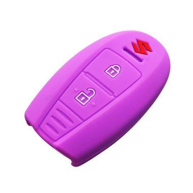 Autorace Silicone Cover Kunci Mobil for Suzuki Ertiga - Ungu