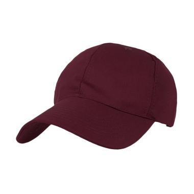 Topi Basic Twill Baseball Cap - Maroon