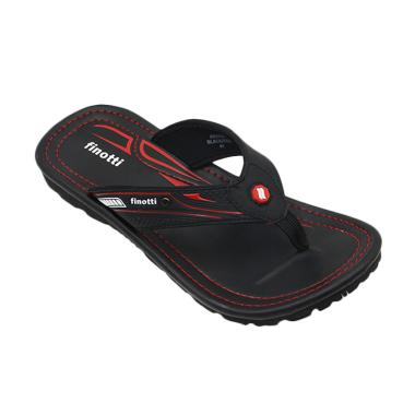 Finiotti Kross Sandal Pria - Black/Red