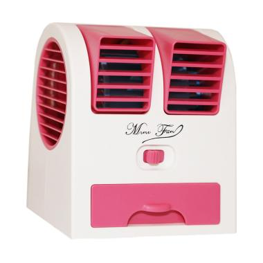 Goshop Double Blower Mini Fan AC Portable - Pink