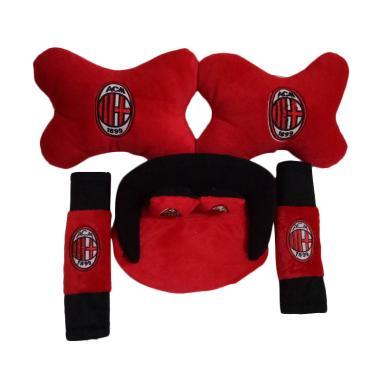 Custom 3in1 AC Milan Set Bantal Mobil - Red