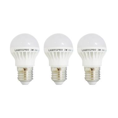 Lightpsro Bohlam Lampu LED [3 W/3 pcs]