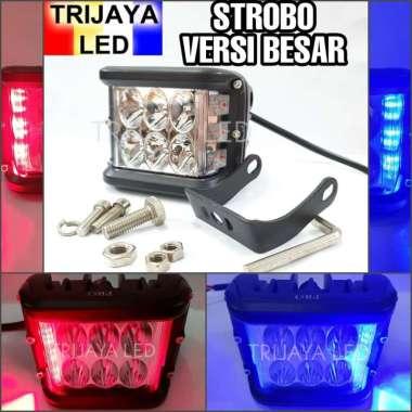 harga OEM Lampu Tembak Sorot Led Cwl 6 Mata Besar Strobo Biru Merah Motor Mobil Cree Worklight Offroad 3 Mode Blue Blibli.com