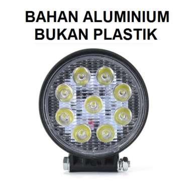 harga Lampu Tembak Sorot LED Worklight 9 Titik Mata 27 Watt Kotak Bulat 27Watt Mobil Motor 27W Offroad Putih Bulat Blibli.com