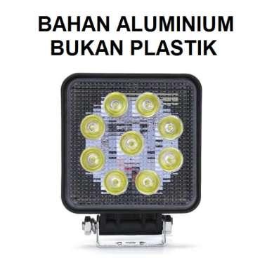 harga Lampu Tembak Sorot LED Worklight 9 Titik Mata 27 Watt Kotak Bulat 27Watt Mobil Motor 27W Offroad Putih Kotak Blibli.com