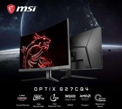 harga Gaming Monitor MSI Optix G27CQ4 27inch 165Hz 1ms - Garansi Resmi Black Blibli.com
