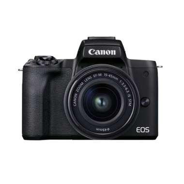 harga Canon EOS M50 Mark II 15-45mm Mirrorless Digital Camera HITAM Blibli.com
