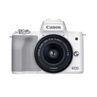 Canon EOS M50 Mark II 15-45mm Mirrorless Digital Camera PUTIH