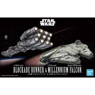 harga Star Wars 1/1000 Blockade Runner & 1/350 Millennium Falcon Blibli.com