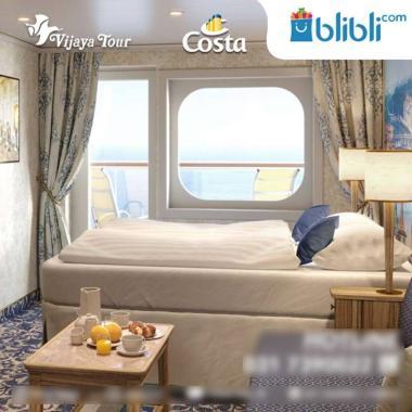 harga Costa Cruise Singapore and Kuala Lumpur Ocean Cruise [Singapore - Port Kelang - Singapore/ Vista Balcony]  Balcony Deluxe Blibli.com