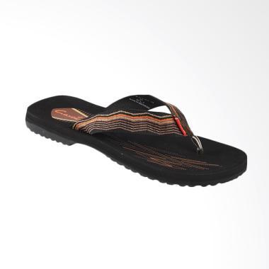 Carvil Mens Sandal Sponge - Black Brown SOCHI-M