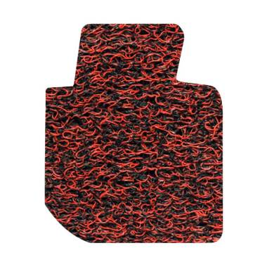Comfort Karpet Mobil for Toyota Fortuner - Red Black [Bagasi]