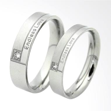 CDHJewelry CC002 Cincin Couple Tita ... arat [Female 7 & Male 10]
