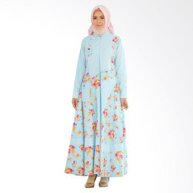 Yumna Sabrina Dress Muslim Wanita - Biru