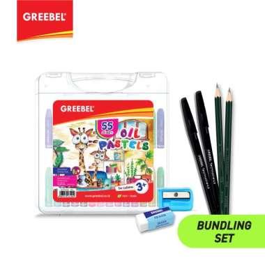 harga GREEBEL Bundling 1pc Crayon Oil Pastels 55c - FREE Paket Alat Tulis Blibli.com