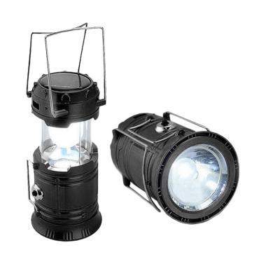 Aimons Senter Lentera LED Solar Rec ... t Lampu Emergency - Hitam