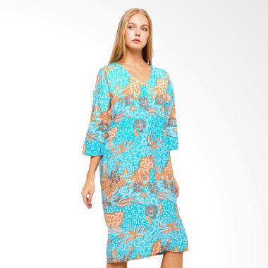 Anakara Cordy Skylo Kaftan Mini Dress - Blue
