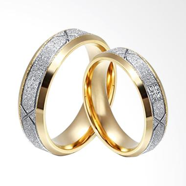 CDHJewelry CC091 Titanium Anti Karat Cincin Couple [Female 7 & Male 8]