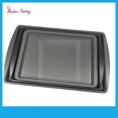 Loyang Kue Anti Lengket / Master Pastry Cookie Pan Set SML Abu-abu