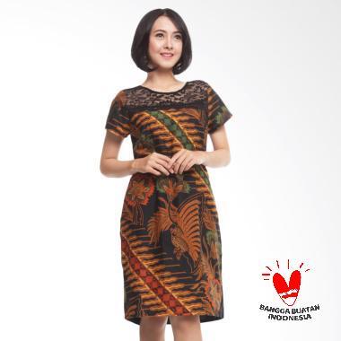 Benangsari Kutilang Dress Batik - Cokelat