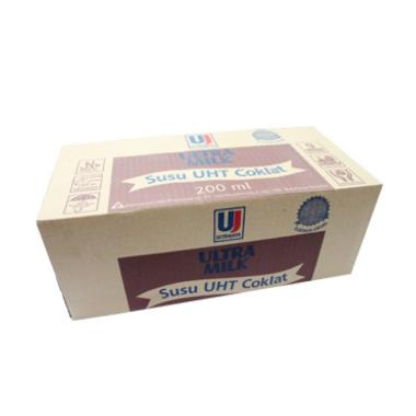 Ultra Jaya UHT Susu Coklat [200 mL/ 1 Dus]