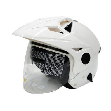 Zeus ZS-612C Helm Half Face - White