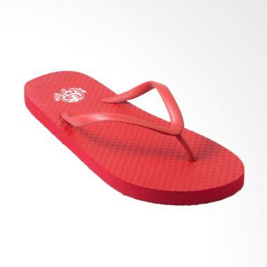 Megumi Basic Sandal Jepit Wanita - Red