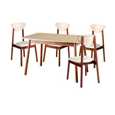 Oscar Furniture Dining Set Meja Mak ... Kursi Makan Carpi - Cocoa