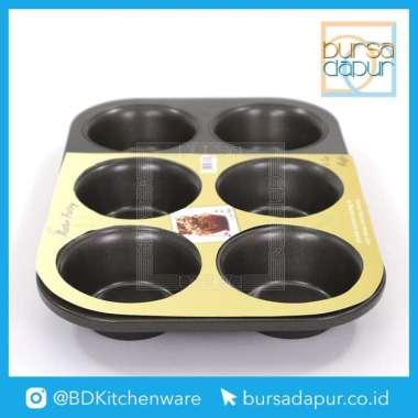 Bursa Dapur Master Pastry Non-Stick Loyang 6 Cup Muffin Pan