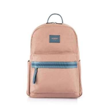 harga (american tourister)AT American Traveler Mia Lightweight Simple Laptop Backpack 14 (Pink Orange) Blibli.com